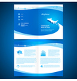 booklet catalog brochure folder airplane airline vector image vector image