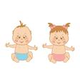 a boy and girl vector image