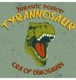 Aggressive tyrannosaurus head vector image