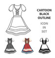 dirndl icon in cartoon style isolated on white vector image