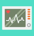 ecg machine flat icon medicine vector image