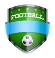 Football Shield badge vector image