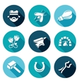 Forge Icons Set vector image