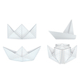 Origami ships set vector image