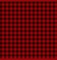 Red lumberjack seamless pattern vector image
