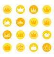 set of royal crowns on color background vector image