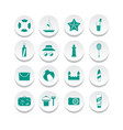 simple summer icons vector image