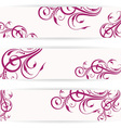 Website header set with beautiful floral design vector image