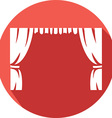 Theater Curtains Icon vector image