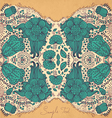 Mirrored Floral design vector image