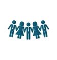 Business teamwork pictogram vector image