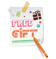 Free gift paper vector image