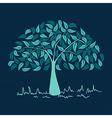 Vintage colors leaves tree set vector image