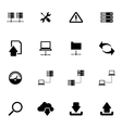 black FTP icon set vector image