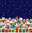 Village in winter vector image