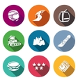 Downhill Skiing Icons Set vector image