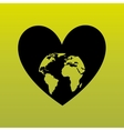 love the planet design vector image