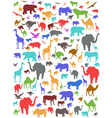 Seamless colorful african animals pattern vector image