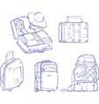 Sketch of Travel Suitcase and Bag vector image