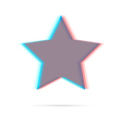 Star anagliph flat icon vector image