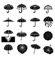 umbrella icons set simple style vector image