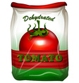 Packaging design with tomato label vector image