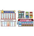 Set of shops vector image vector image