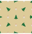 Pattern with Santa and Christmas trees vector image vector image
