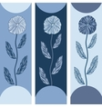 Three floral banners with blue flowers vector image