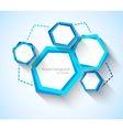Abstract background with blue hexagons vector image
