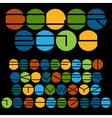 Unusual colorful alphabet vector image