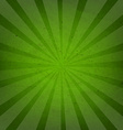 Green Grunge Background Texture With Sunburst vector image