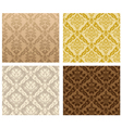 vintage damask patterns vector image vector image