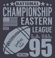 Football sport typography t-shirt Printing design vector image vector image