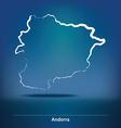 Doodle Map of Andorra vector image