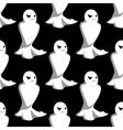 Halloween night ghosts seamless pattern vector image