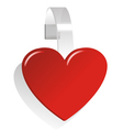 promotional heart wobbler vector image
