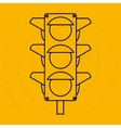 traffic light design vector image