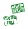 Realistic Gluten Free grunge rubber stamp on white vector image