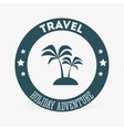 Travel design trip icon Isolated vector image