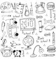 Hand draw doodles school element vector image
