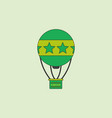 Circus watercolor hot air balloon vector image