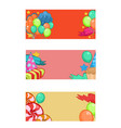 colorful happy birthday horizontal banners vector image