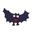 comic cartoon bat vector image