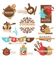cooking school master class bakery chef vector image