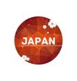 Modern red round cherry blossom japan simbolic vector image