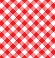 red tablecloth diagonal seamless pattern vector image