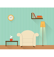 The living room with white armchair vector image