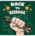 Children back to school poster vector image vector image