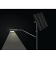 street light with solar panel vector image